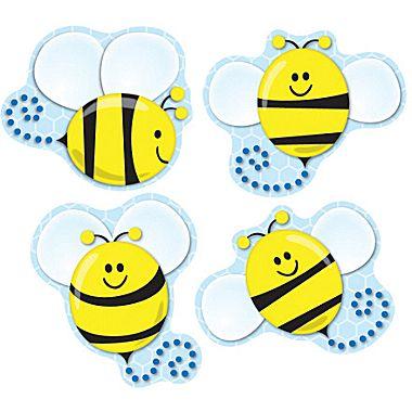 Bees clipart carson dellosa Bees Shape Stickers Bees Dellosa