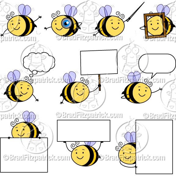 Bee clipart cartoon character Clipart Cute Clip Graphics Cute