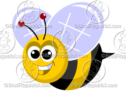 Bee clipart cartoon character  Bee Bumble Graphics Cute