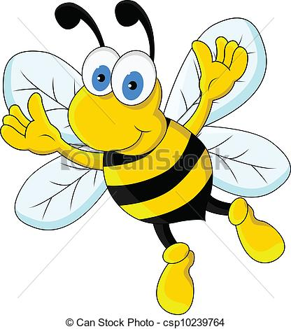 Bee clipart cartoon character  bee cartoon cartoon Art