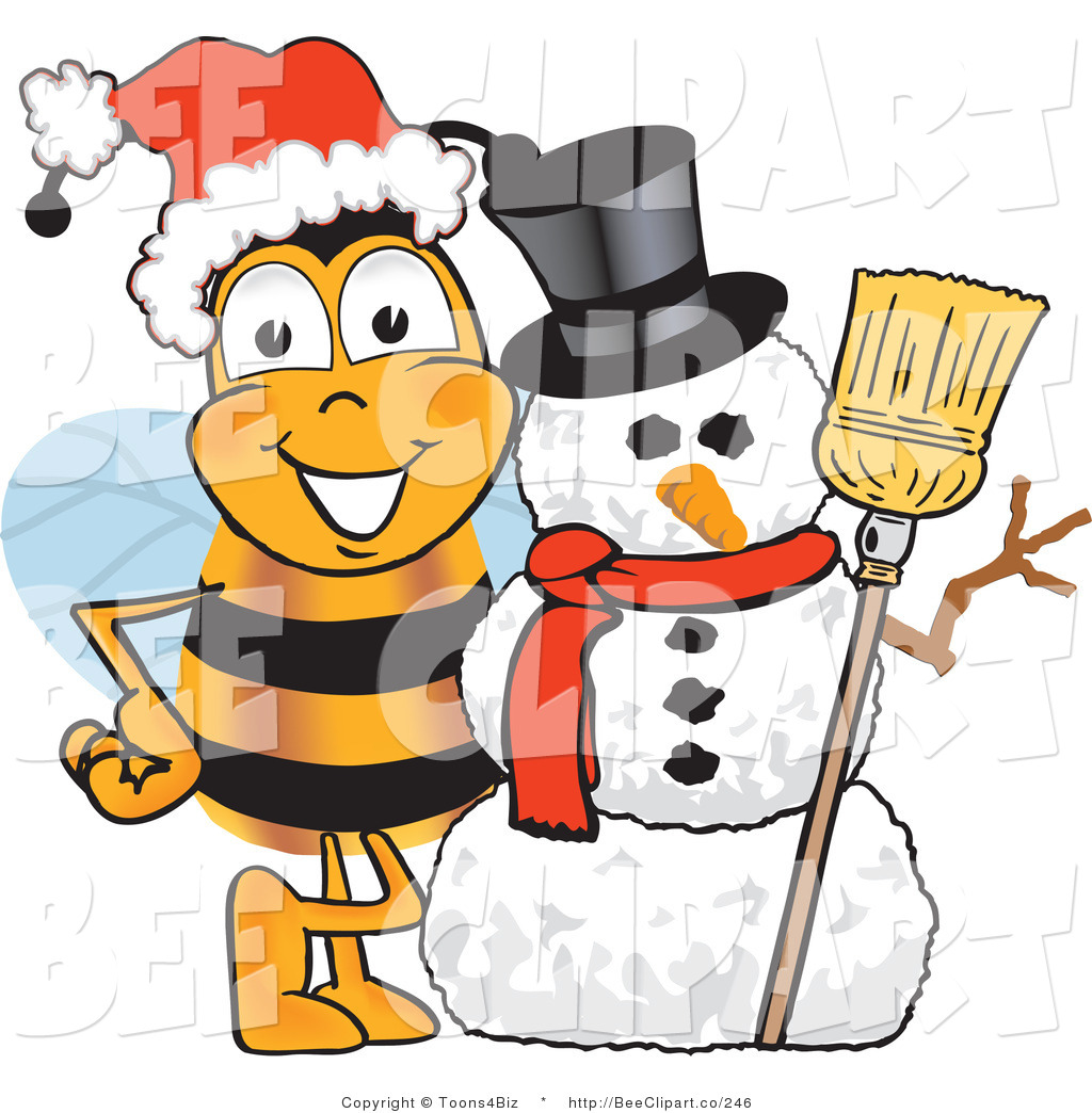 Bees clipart christmas A by Bumble on with