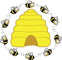 Bee Hive clipart spring  Bee free Classroom clipart