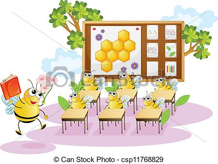 Bees clipart classroom Of illustration of Vector honey