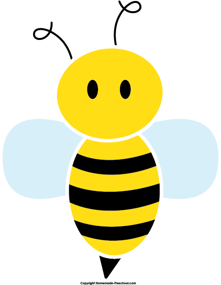 Bees clipart cute Bee Clipart Image Click Free