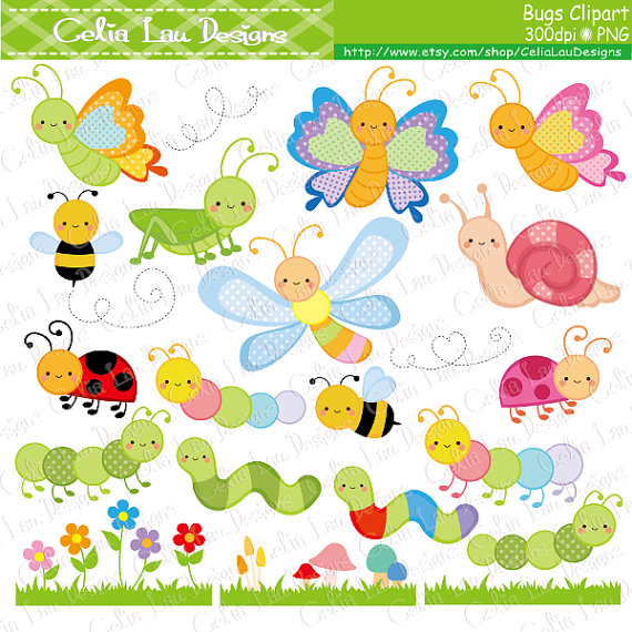 Caterpillar clipart bee Insect CeliaLauDesigns Ladybug Clipart on