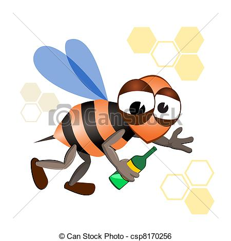 Bees clipart drunk 35 Illustration with of 393