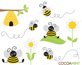 Bee Hive clipart bumblebee Cute Art clipart Bumble Bee