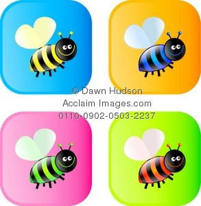 Bees clipart four Bumble Four of Bumble Bee