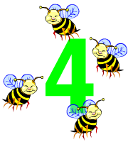 Bees clipart four Panda Clipart Free Clipart Number