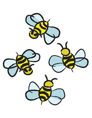 Bees clipart four Download Bees Clip Clipart Clip