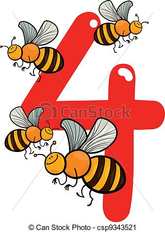 Bees clipart four Bees and of and Vector