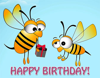 Bees clipart happy birthday Bee Happy Graphics Free Birthday