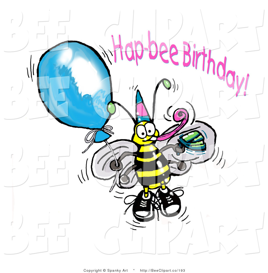 Bees clipart happy birthday A a Party Hat Clip