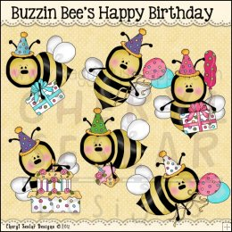 Bees clipart happy birthday  Birthday by Buzzin Doodle
