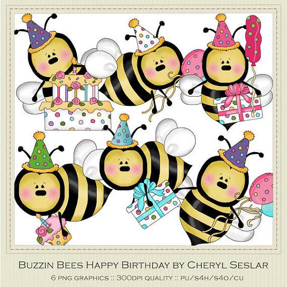 Bees clipart happy birthday Marlodeedesigns Birthday 25 Buzzin by