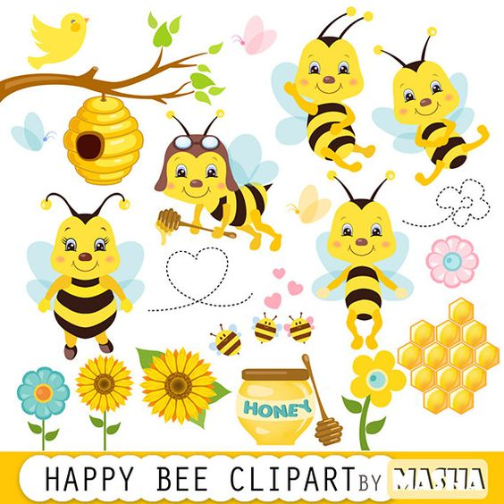 Bees clipart butterfly Working Hard Clip – Clipart
