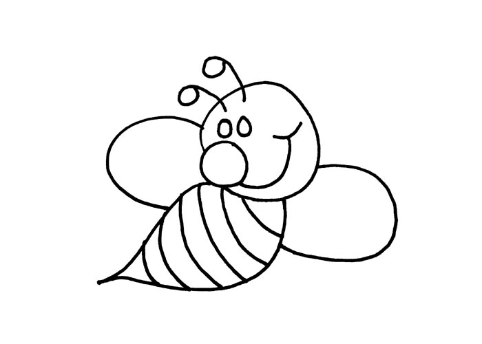 Bee clipart outline Outline Kids Clip Clipart Bee