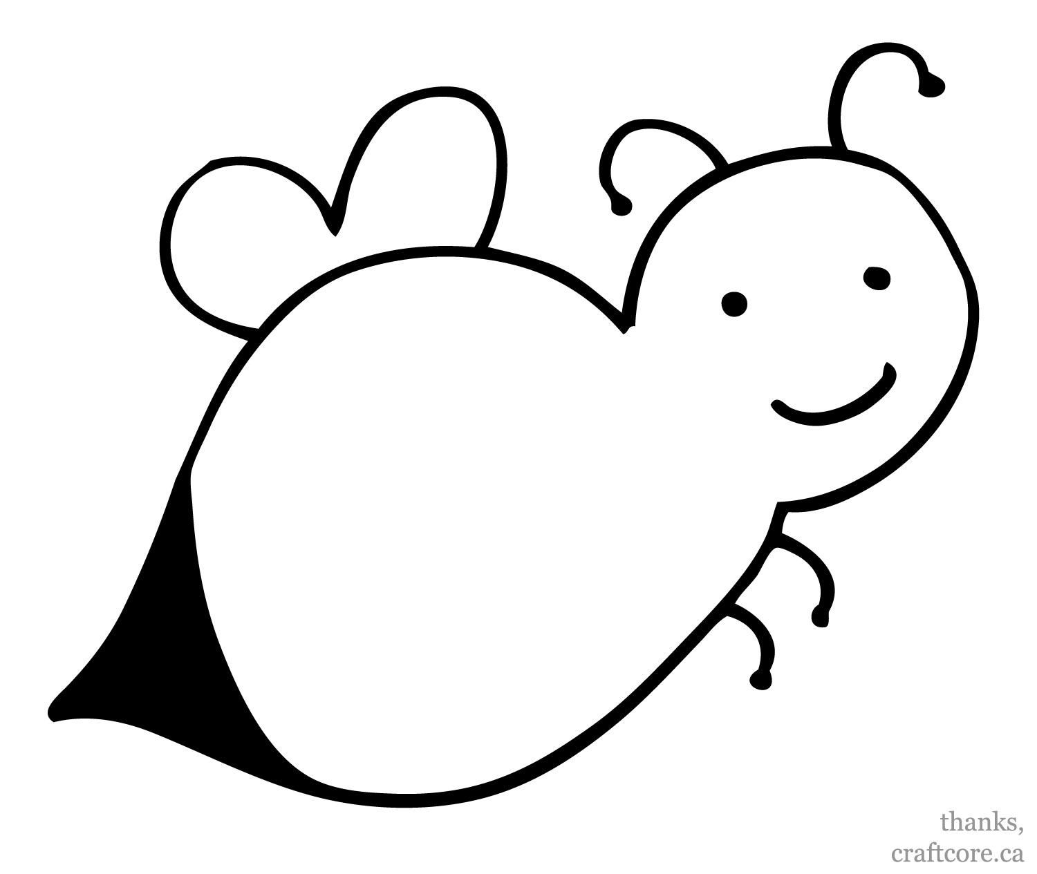 Bee clipart outline With  With Bee :