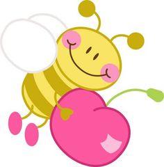 Bee clipart pink Pinterest  Abelhinhas Riscos Best