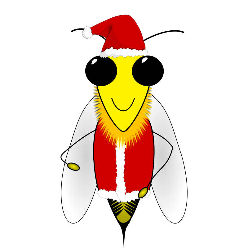 Bees clipart santa Clip Free Picture  Art
