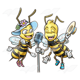 Bees clipart singing bee And boy Singing microphone Clip