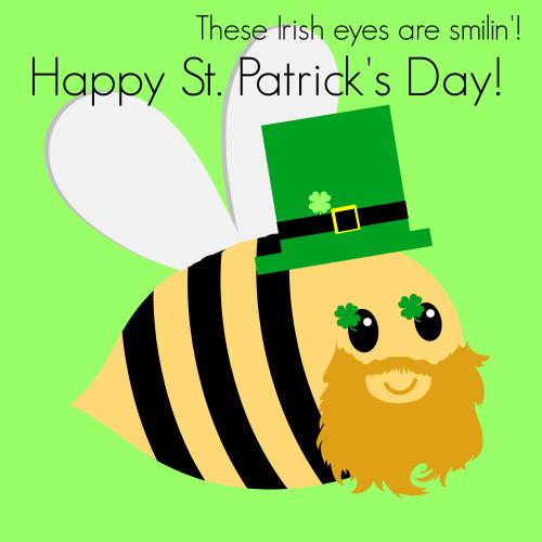 Bee clipart st patrick's day Patricks Happy Hive The Patrick's