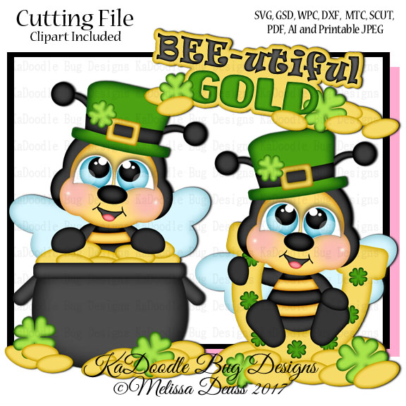 Bee clipart st patrick's day St Cutie Bug Designs Stamps