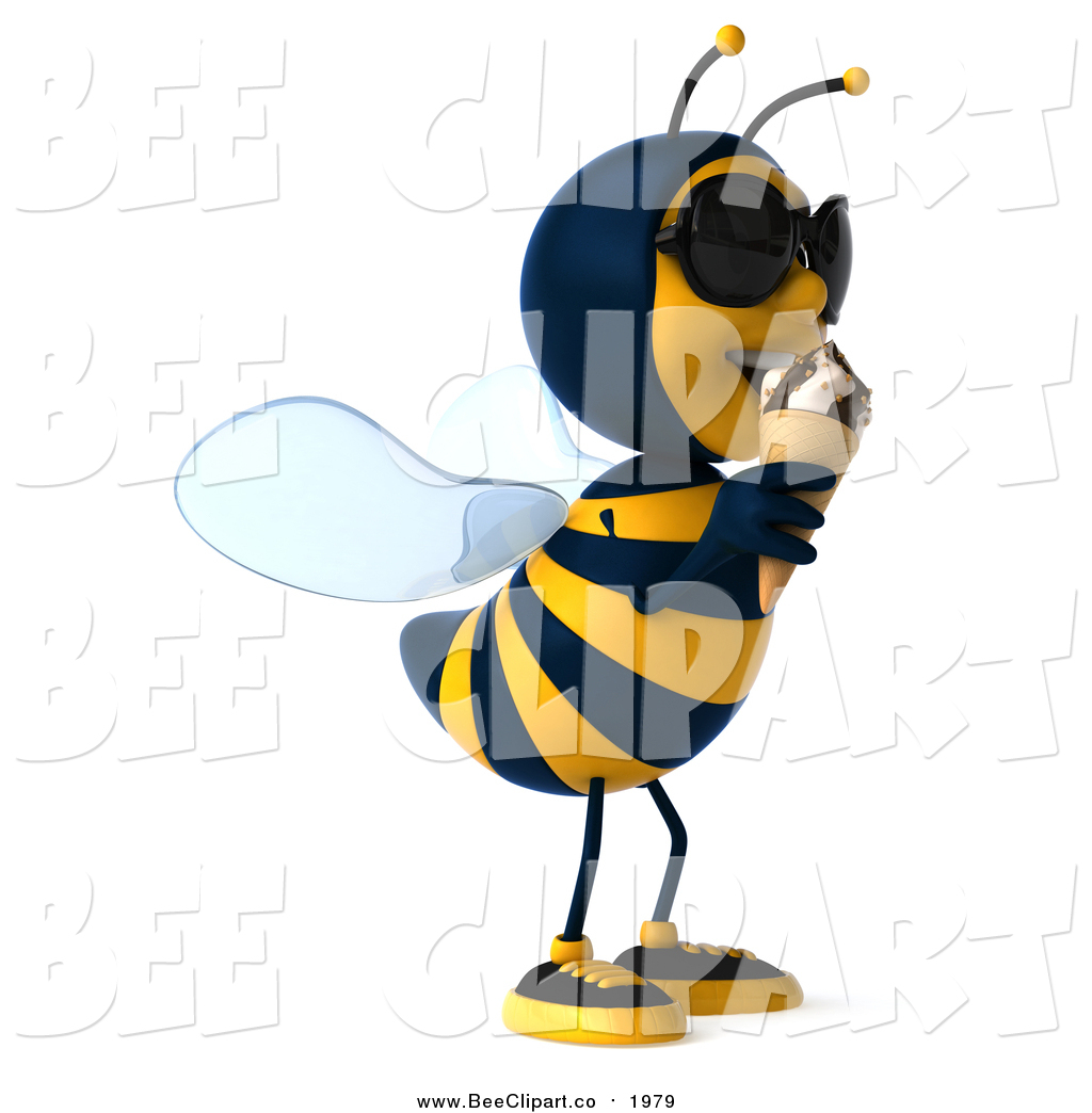 Bee clipart sunglass Clip a Cone and Eating