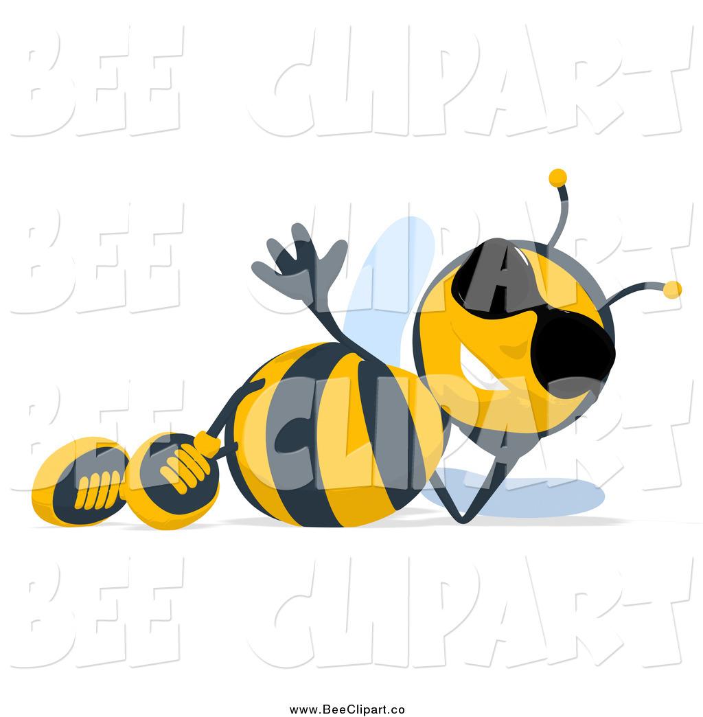 Bee clipart sunglass A of of Reclining Art