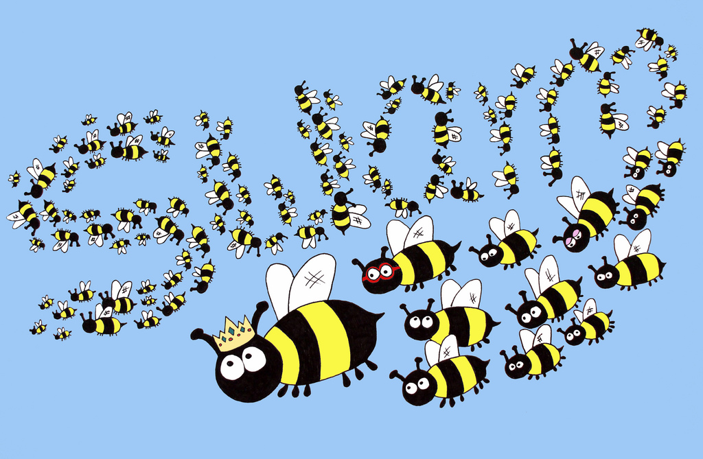 Bugs clipart swarm Of on swarm settling a