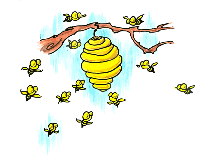 Bee Hive clipart comic Bee Green Download Clip Free