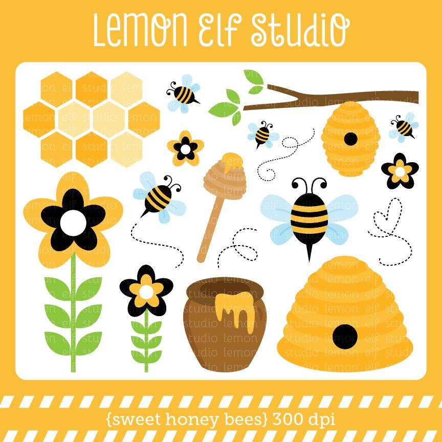 Bees clipart sweet honey CL54 honey Sweet Bees Digital