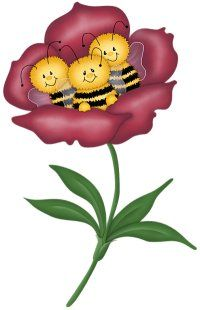 Bee clipart three Catalog Peach Illustration uploaded Vintage
