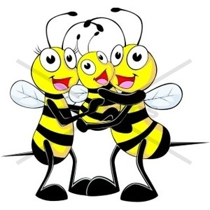 Bee clipart three Three Bee #1 of Polyvore