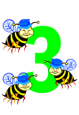 Bee clipart three Clipart Images Clipart number%20three%20clipart Panda