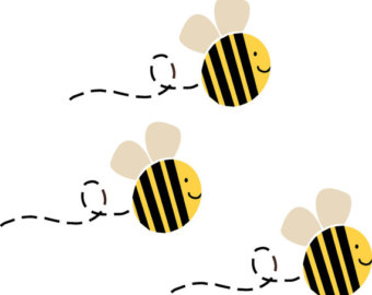 Bee clipart three Clipart Bee stencil clipart stencil