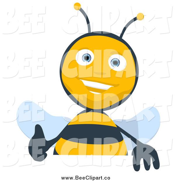 Bees clipart thumbs up Up Bee Cartoon Sign Thumbs