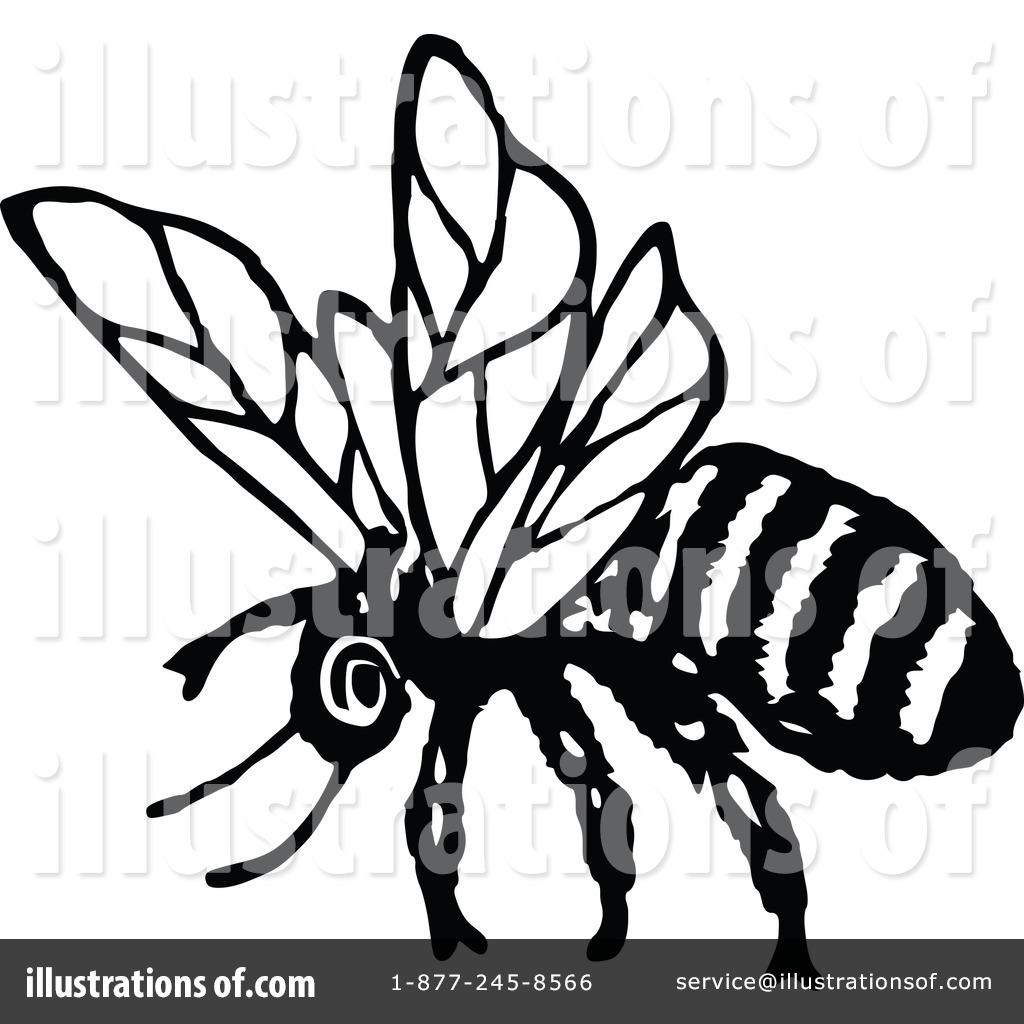 Bees clipart vintage Clipart Prawny Free Illustration Vintage