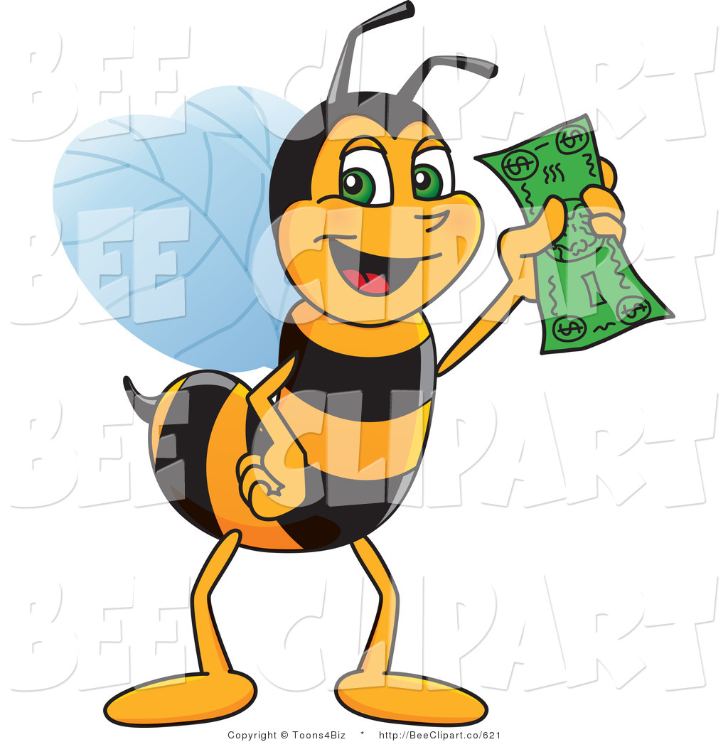 Bees clipart worker bee Holding Cash by Worker a