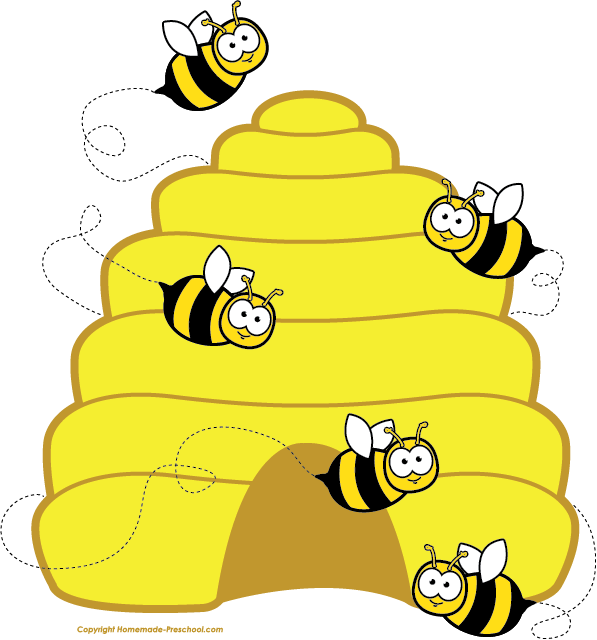 Hexagon clipart bee home Clipart bees bee beehive Themed