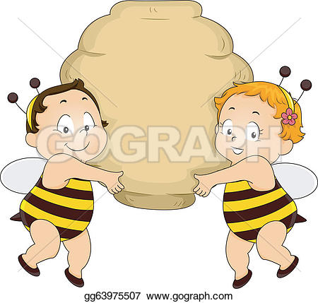 Bee Hive clipart animated baby  in gg63975507 Vector Clipart