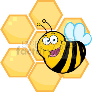 Bee Hive clipart happy bee Royalty Royalty Of Bee Orange