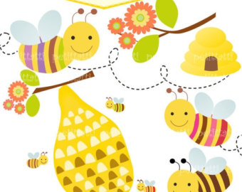 Bee Hive clipart happy bee Clipart and clip bumble art