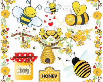 Bee Hive clipart honey bee Bee  clip Etsy art