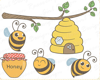 Bee Hive clipart honey bee Bees clipart: art clipart OFF