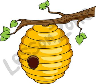 Bee Hive clipart outline Art Beehive Zone AU Clipart