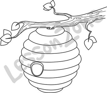 Bee Hive clipart outline 106901Z01_Beehive_BW01 AU Beehive Lesson Zone
