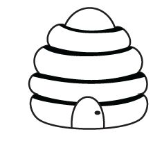 Bee Hive clipart outline Hive Hive Outline Outline Clipart