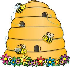 Bee Hive clipart printable And Bee spiders Beehive Hive