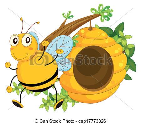 Bee Hive clipart tree clip art Csp17773326 Illustration A beehive